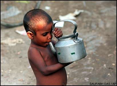 Child Drinking Yamuna Water Prematurely Boiled